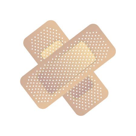Bandage médical icône isolé conception d'illustration vectorielle