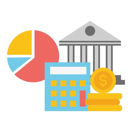bank calculator money report bank online payment vector illustration Imagens - 123480246