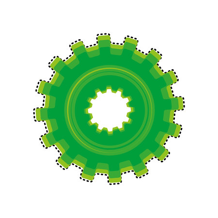 gears machine isolated icon vector illustration design Zdjęcie Seryjne - 121007586