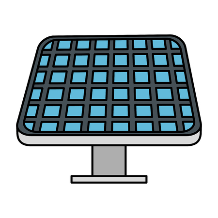 solar panel energy ecology vector illustration design  イラスト・ベクター素材