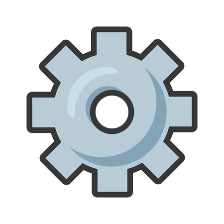 gear tool icon on white background vector illustration Banco de Imagens - 121007868