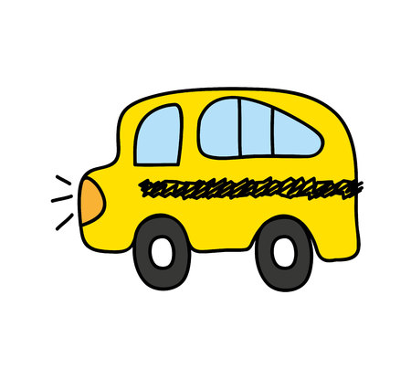 bus school drawing isolated icon vector illustration design Stock Vector - 123480586