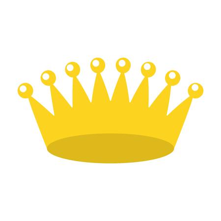 Bijoux de redevance couronne sur fond blanc vector illustration