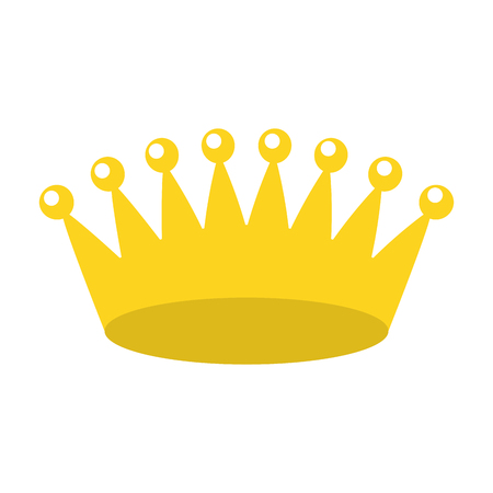 crown royalty jewelry on white background vector illustration