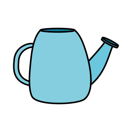 watering can tool on white background vector illustration