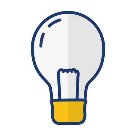 light bulb electricity on white background vector illustration