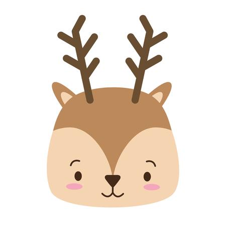 cute deer animal cartoon vector illustration design image