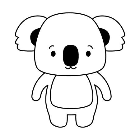 cute koala animal cartoon vector illustration design Illustration