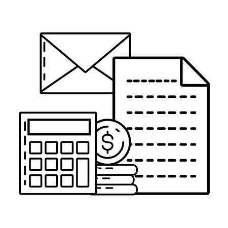 calculator email report online payment vector illustration