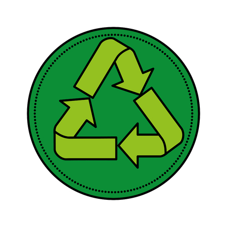 recycle arrows symbol icon vector illustration design Archivio Fotografico - 121009079