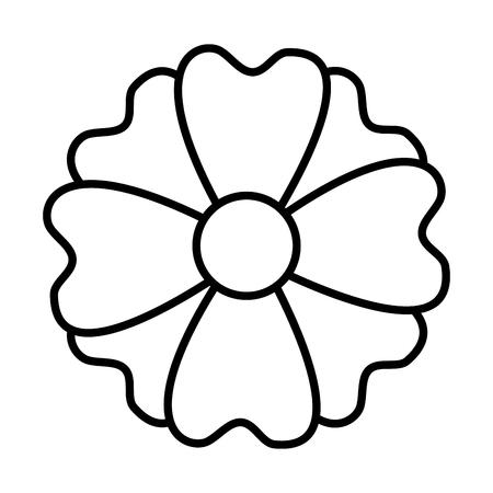 flower nature decoration on white background vector illustration