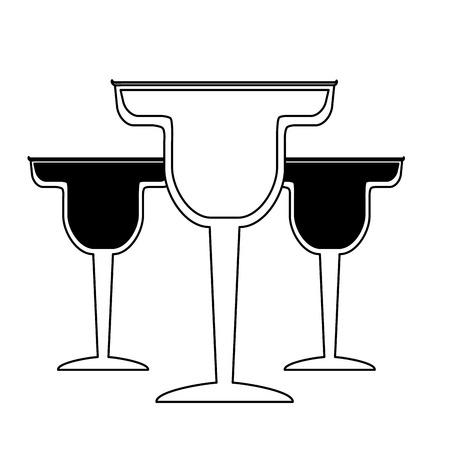 cocktail drink liquor on white background vector illustration Illustration
