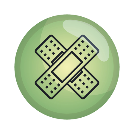 cure bandages isolated icon vector illustration design  イラスト・ベクター素材