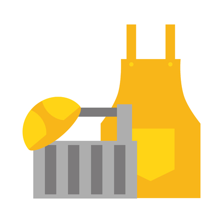 apron and helmet box construction tool vector illustration 版權商用圖片 - 120927829