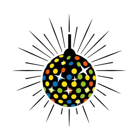 Bola de luces de discoteca icono aislado diseño ilustración vectorial