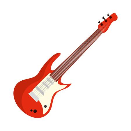 chitarra elettrica strumento musicale illustrazione vettoriale design Vettoriali
