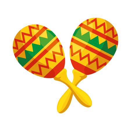 mexican maracas isolated icon vector illustration design 写真素材 - 123488261