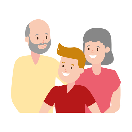 grandparents and grandson family vector illustration design Stock fotó - 123427533