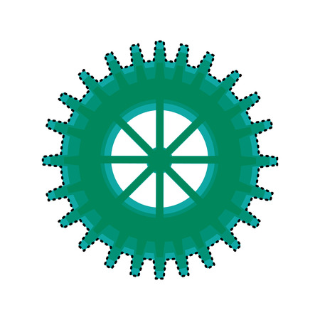 gears machine isolated icon vector illustration design Zdjęcie Seryjne - 120930210