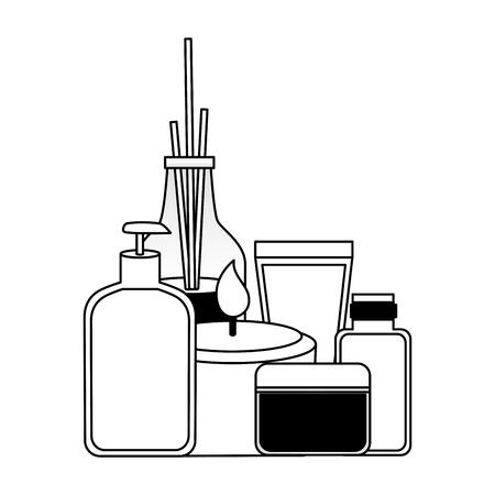aromatherapy sticks gel dispenser candle cosmetics spa treatment vector illustration