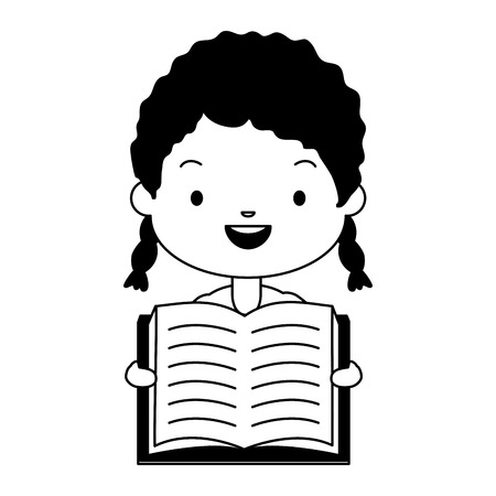 boy holding textbook - world book day vector illustration Stockfoto - 121009668