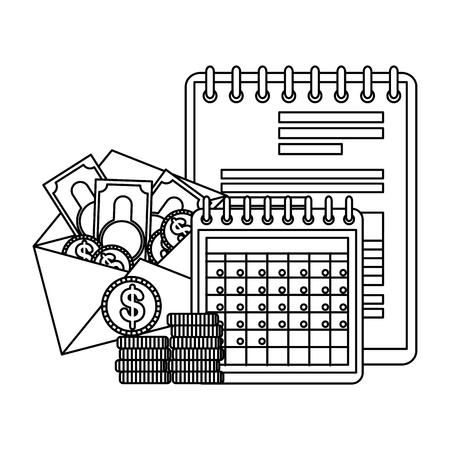 tax day business icons vector illustartion design Foto de archivo - 123428001