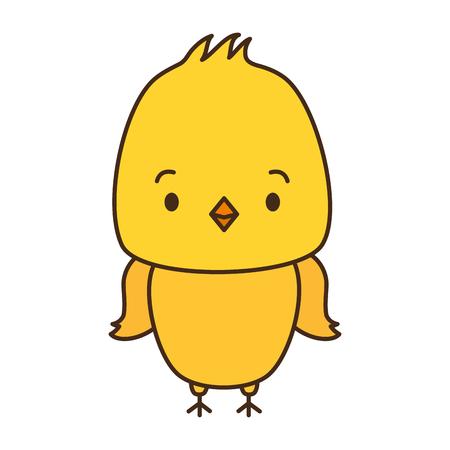 cute chicken animal cartoon vector illustration design