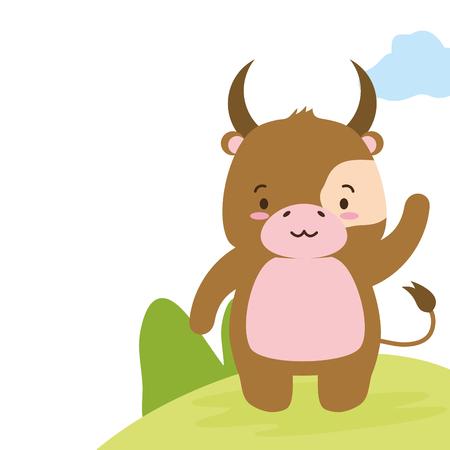 Image de conception d'illustration vectorielle de dessin animé animal mignon Vecteurs
