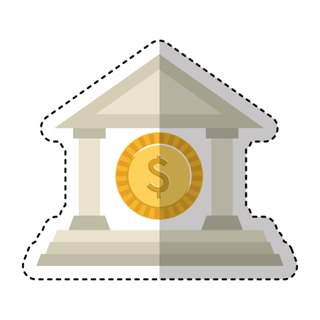 building roman columns icon vector illustration design 版權商用圖片 - 123428085