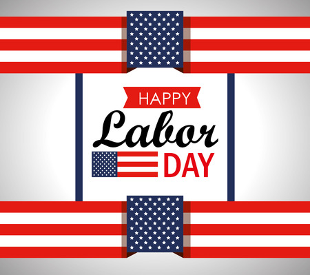 usa flag to labor day celebration vector illustration