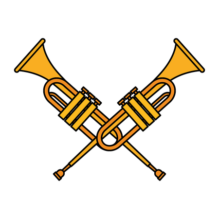 trumpet instrument music icon vector illustration design