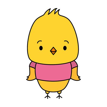 cute chicken animal cartoon vector illustration design Foto de archivo - 123428199