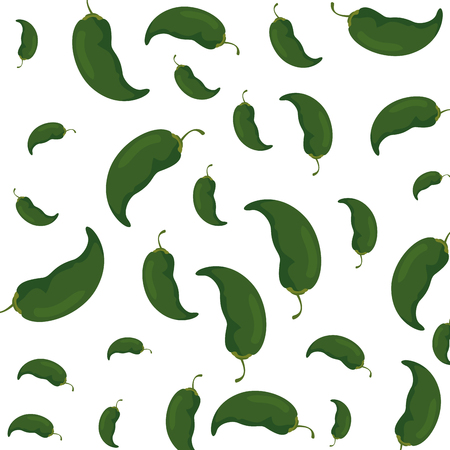 chili pepper vegetables pattern vector illustration design