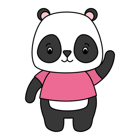 cute panda animal cartoon vector illustration design Standard-Bild - 121009959