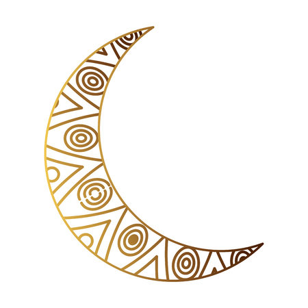 golden moon ramadan kareem vector illustration design