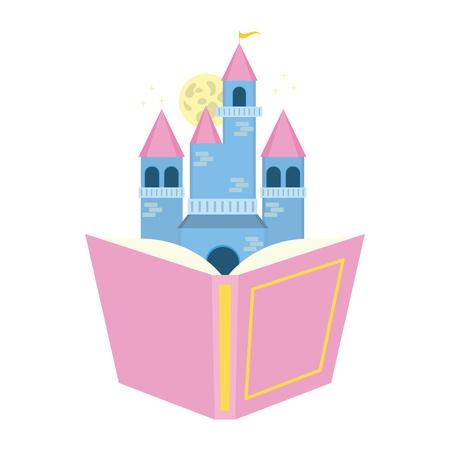 Château de manuels fantasy world book day vector illustration Vecteurs