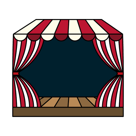 circus podium isolated icon vector illustration design