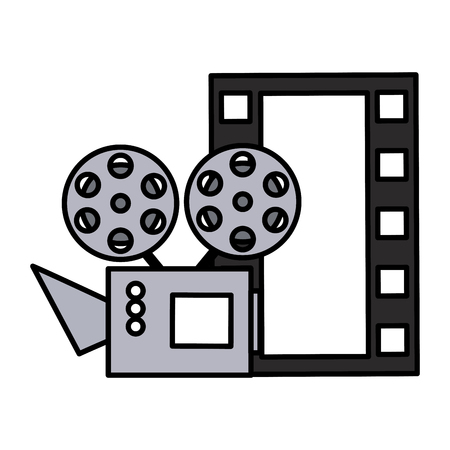cinema projector and movie tape icon vector illustration design Foto de archivo - 120979105