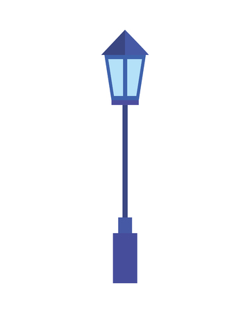 street lightpost lamp icon vector illustration design