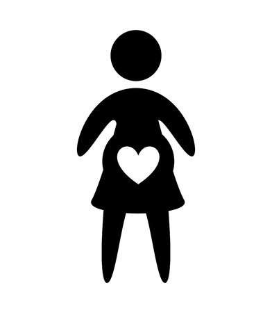 woman pregnancy silhouette isolated icon vector illustration design  イラスト・ベクター素材