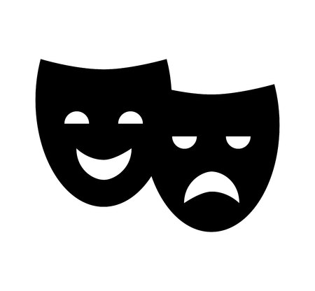 theater mask classic icon vector illustration design 일러스트