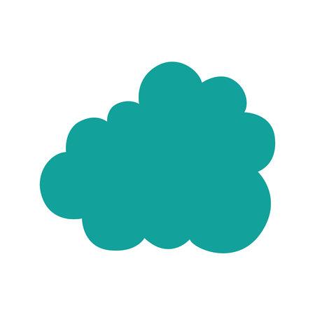 cloud silhouette isolated icon vector illustration design Illusztráció