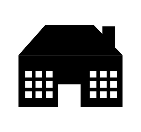 exterior house isolated icon vector illustration design 일러스트