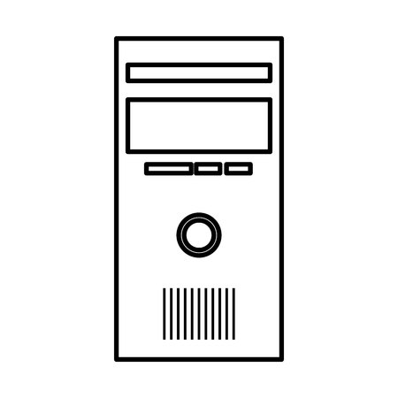 computer desktop cpu isolated icon vector illustration design Banque d'images - 123430110