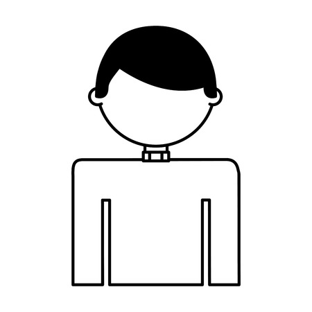 priest man avatar character vector illustration design 向量圖像