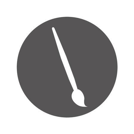 paint brush isolated icon vector illustration design