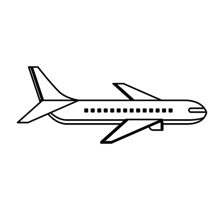 airplane flying isolated icon vector illustration design Foto de archivo - 123430121