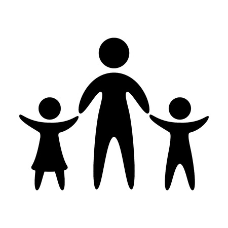 family parents silhouette isolated icon vector illustration design