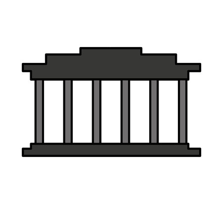 court building isolated icon vector illustration design Ilustração