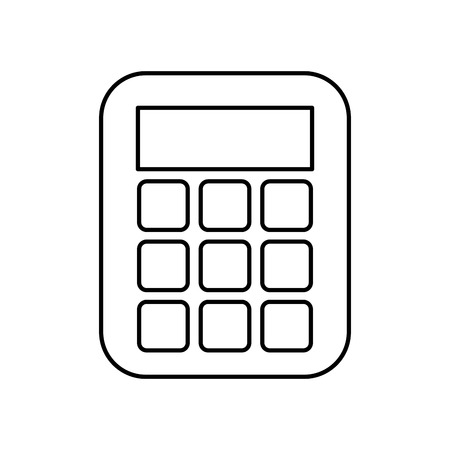 calculator math isolated icon vector illustration design Banque d'images - 121010995